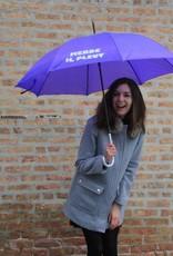 CarefulPeach Purple Full Length Umbrella