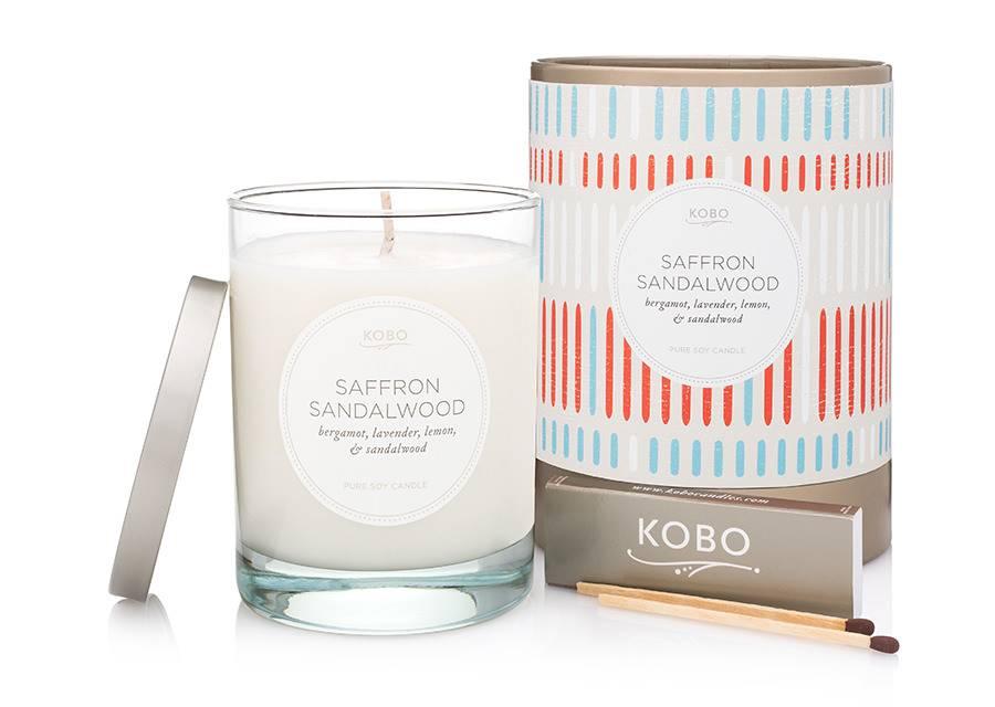 Kobo Saffron Sandalwood Soy Candle