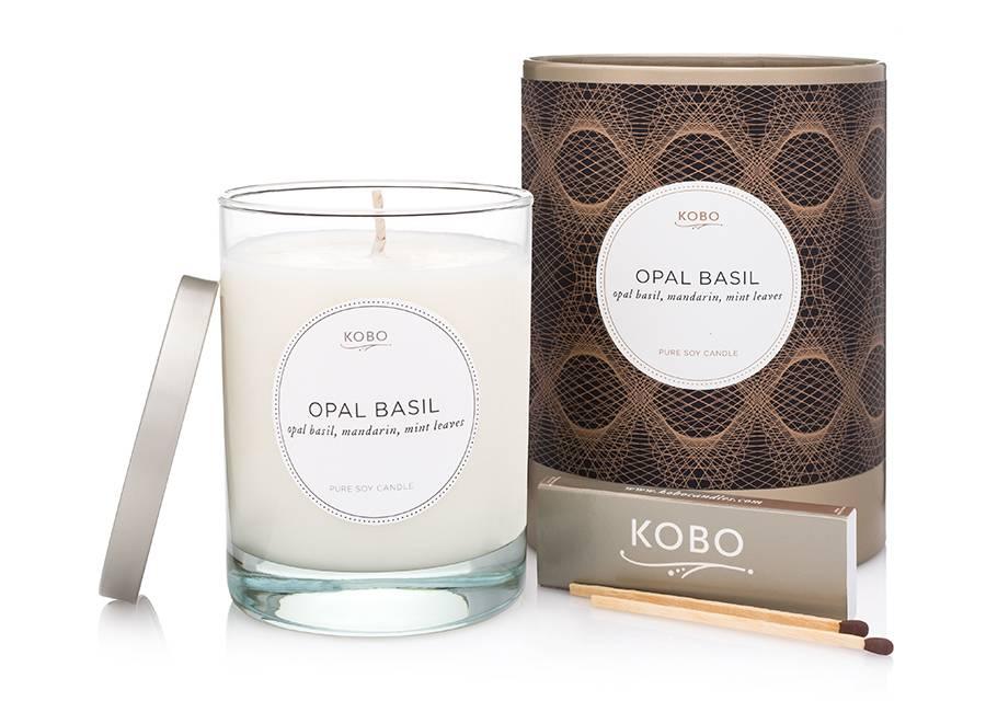 Kobo Opal Basil Soy Candle