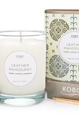 Leather Mahogany Soy Candle