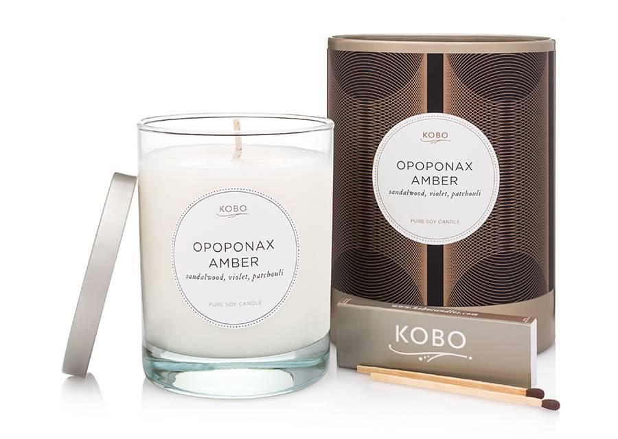 Kobo Opoponax Amber Soy Candle