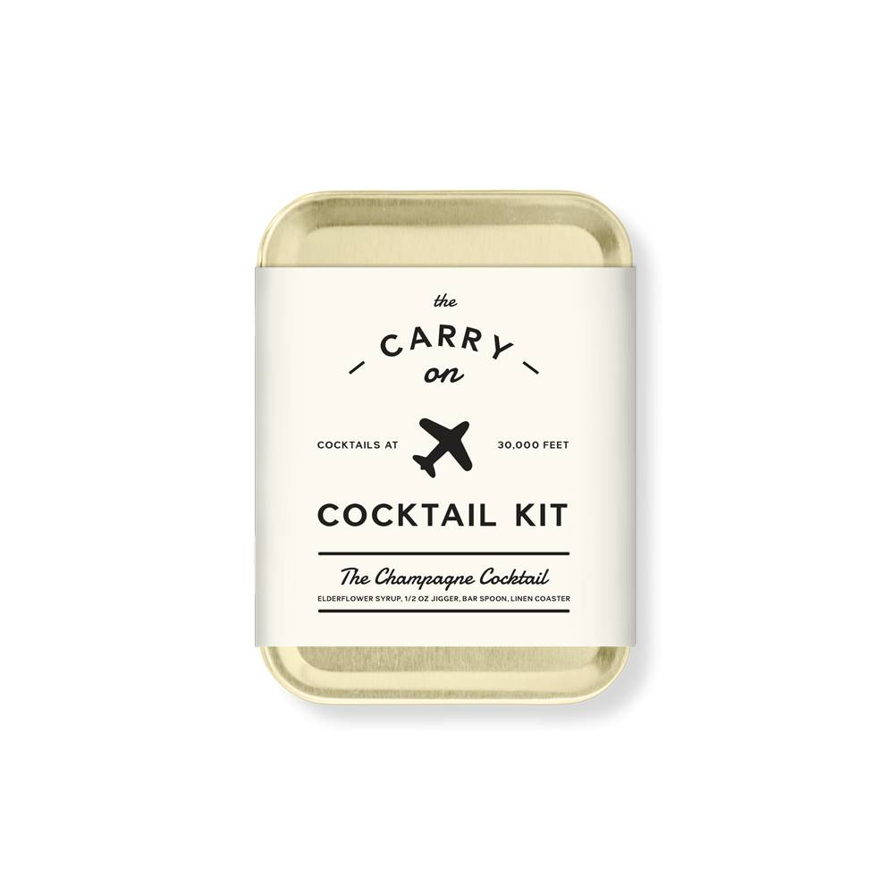 W&P Designs Champagne Carry On Cocktail Kit