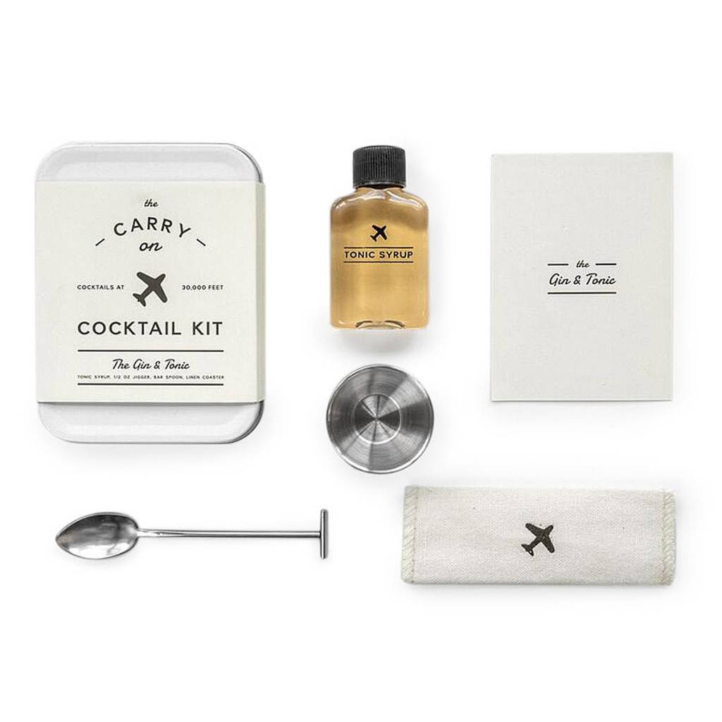 W&P Designs Gin & Tonic Carry On Cocktail Kit
