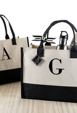 A-Initial Canvas Tote