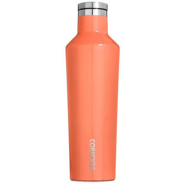 Corkcicle 25oz Canteen in Peach