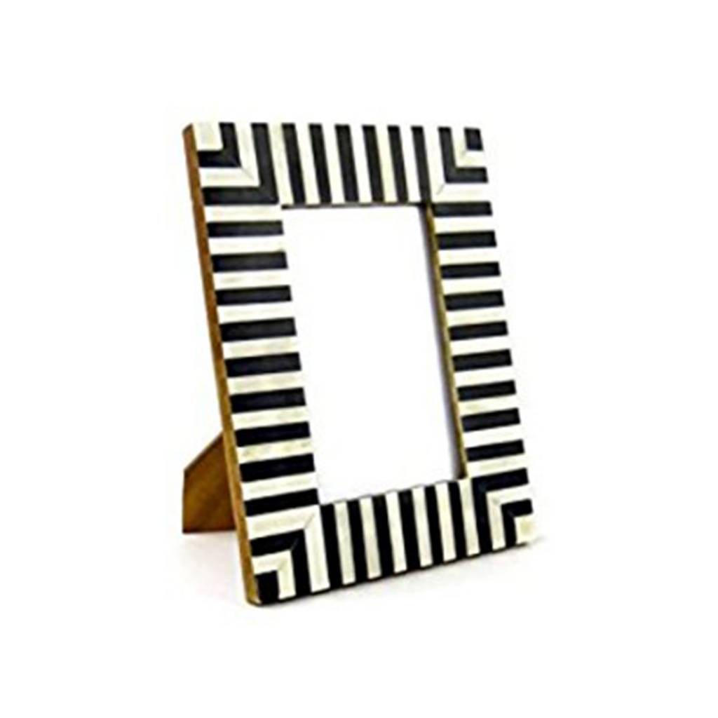 "Wedding Registry Striped Frame, 4x6""- Hadley & Bradley's Wedding Registry"