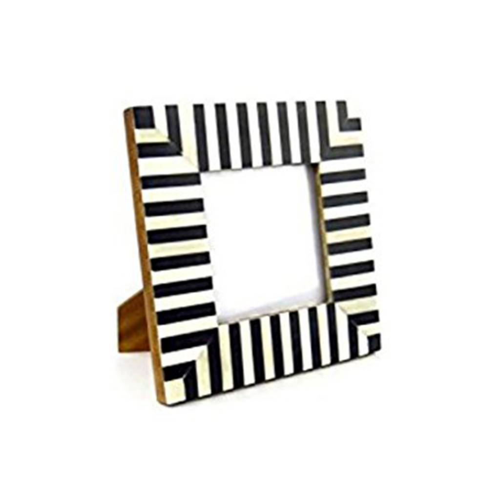 Wedding Registry Square Striped Frame- Hadley & Bradley's Wedding Registry