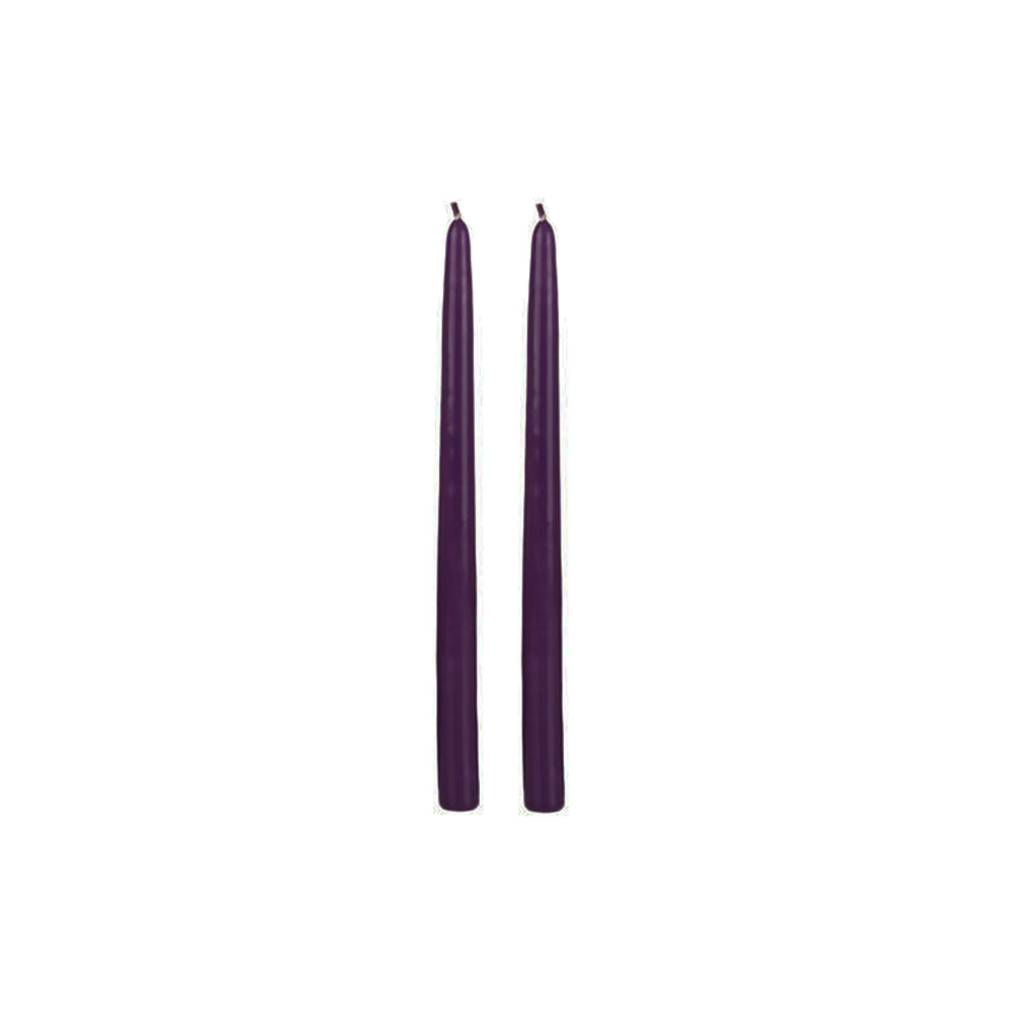 Wedding Registry Taper Candle in Purple, 12""