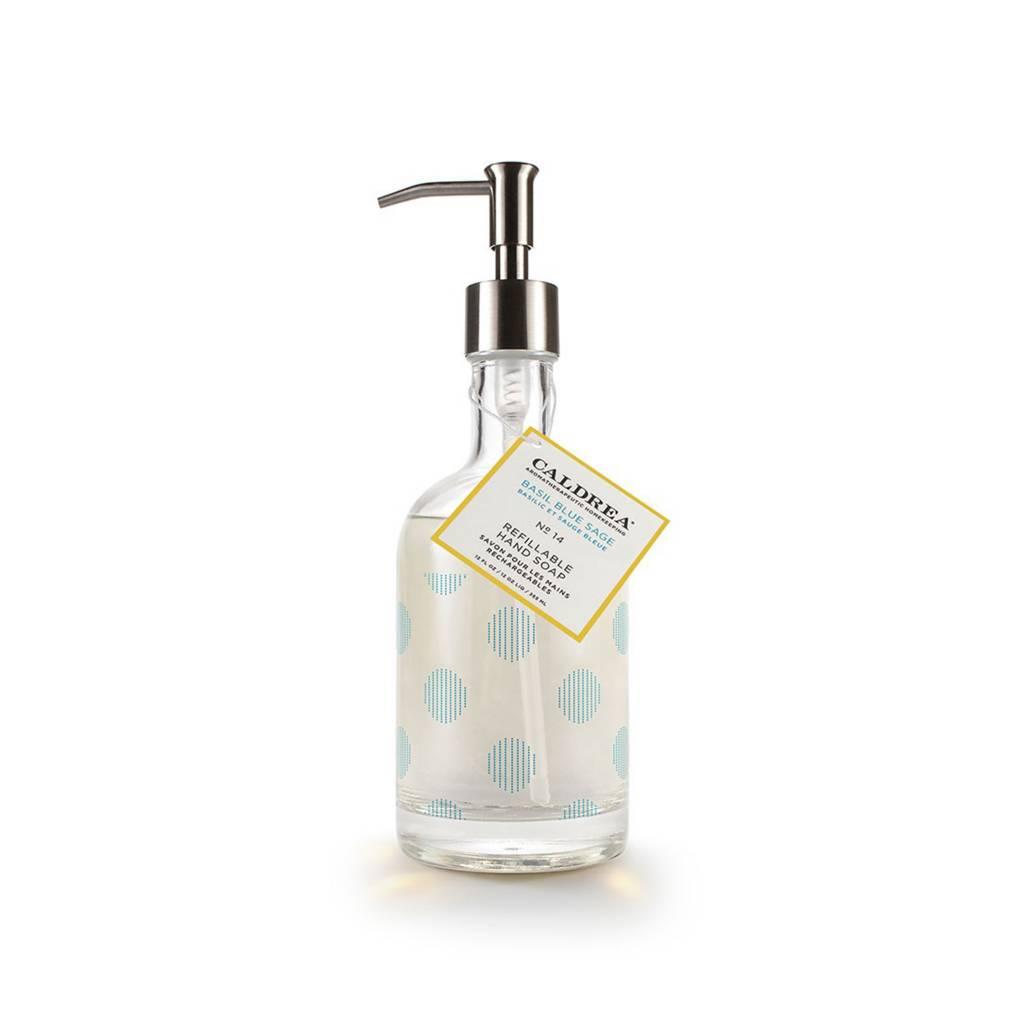 Caldrea Basil Blue Sage Glass Refillable Hand Soap
