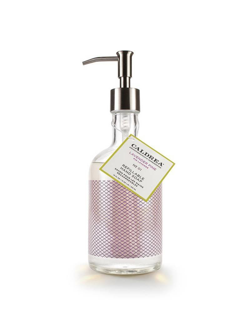 Lavender Pine Glass Refillable Hand Soap