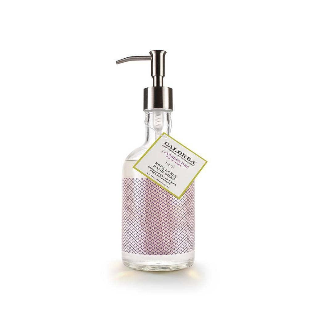 Caldrea Lavender Pine Glass Refillable Hand Soap