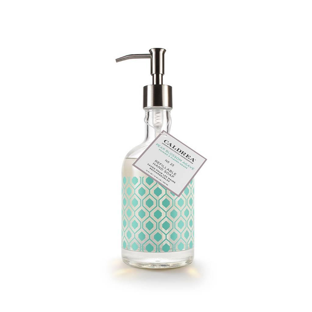 Caldrea Pear Blossom Agave Glass Refillable Hand Soap