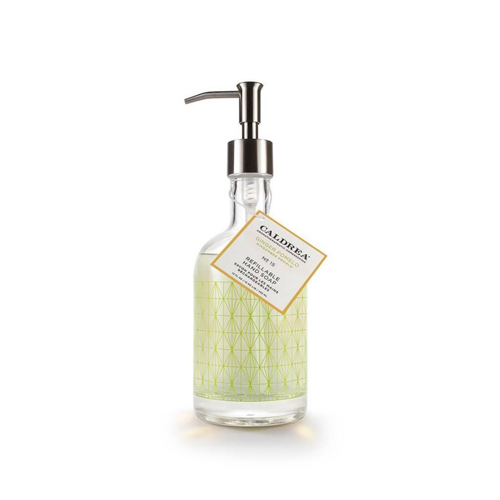 Caldrea Ginger Pomelo Glass Refillable Hand Soap