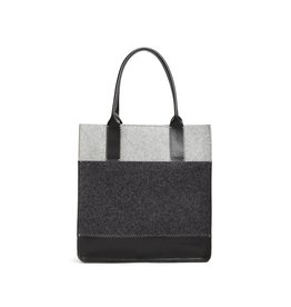 Jaunt Tote Granite/Charcoal felt w/ Black Leather