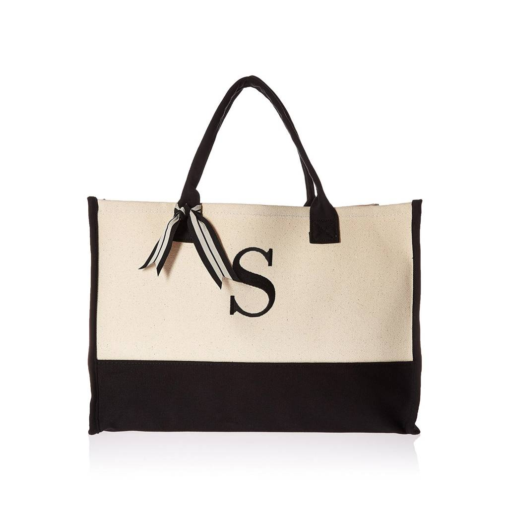 S-Initial Canvas Tote