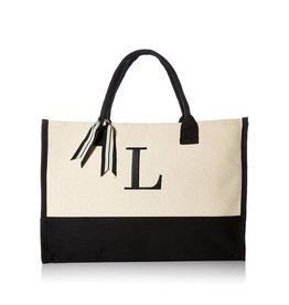 L-Initial Canvas Tote