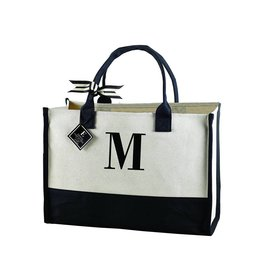 M-Initial Canvas Tote