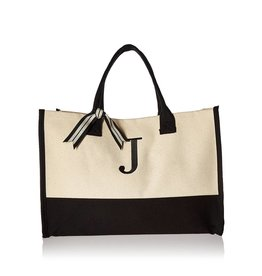 J-Initial Canvas Tote