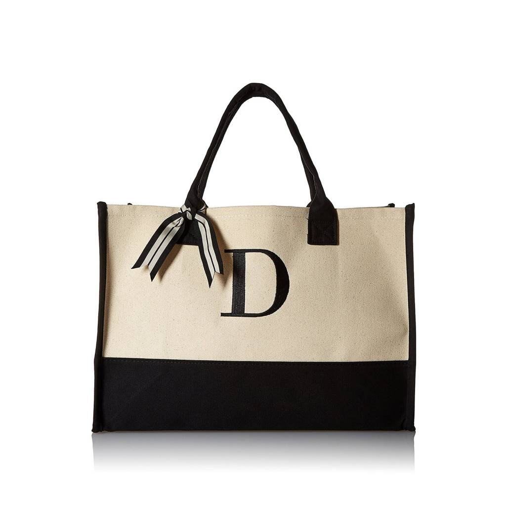 D-Initial Canvas Tote