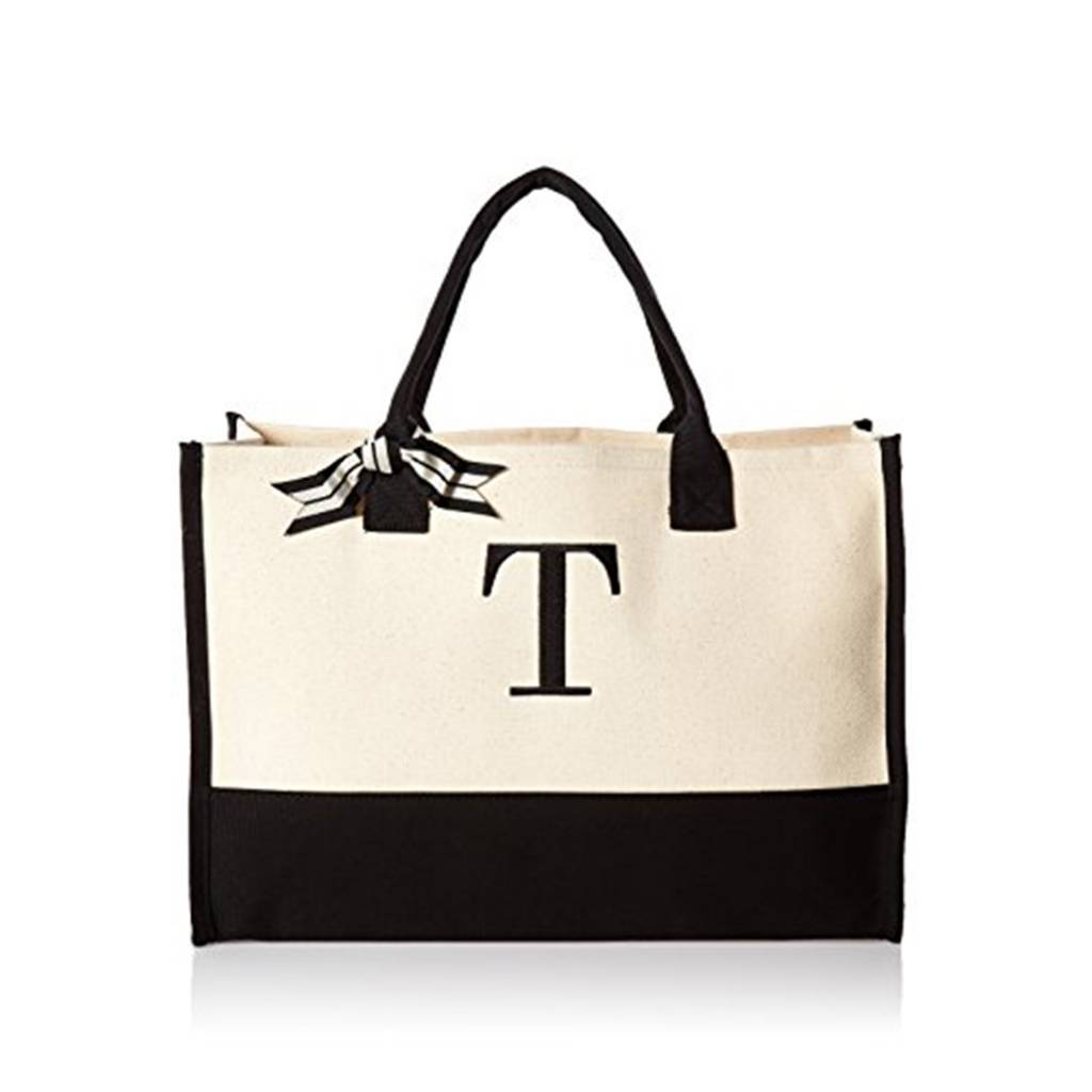 T-Initial Canvas Tote