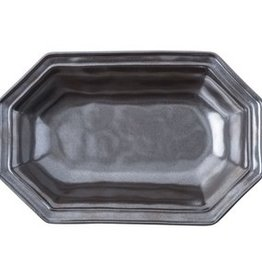 Juliska Pewter Stoneware Serving Bowl Octagonal 12""