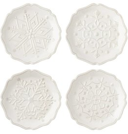 Juliska Berry and Thread Snowfall Whitewash Party Plates Set/4