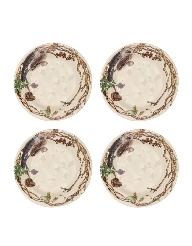 Juliska Forest Walk Party Plates Set of 4