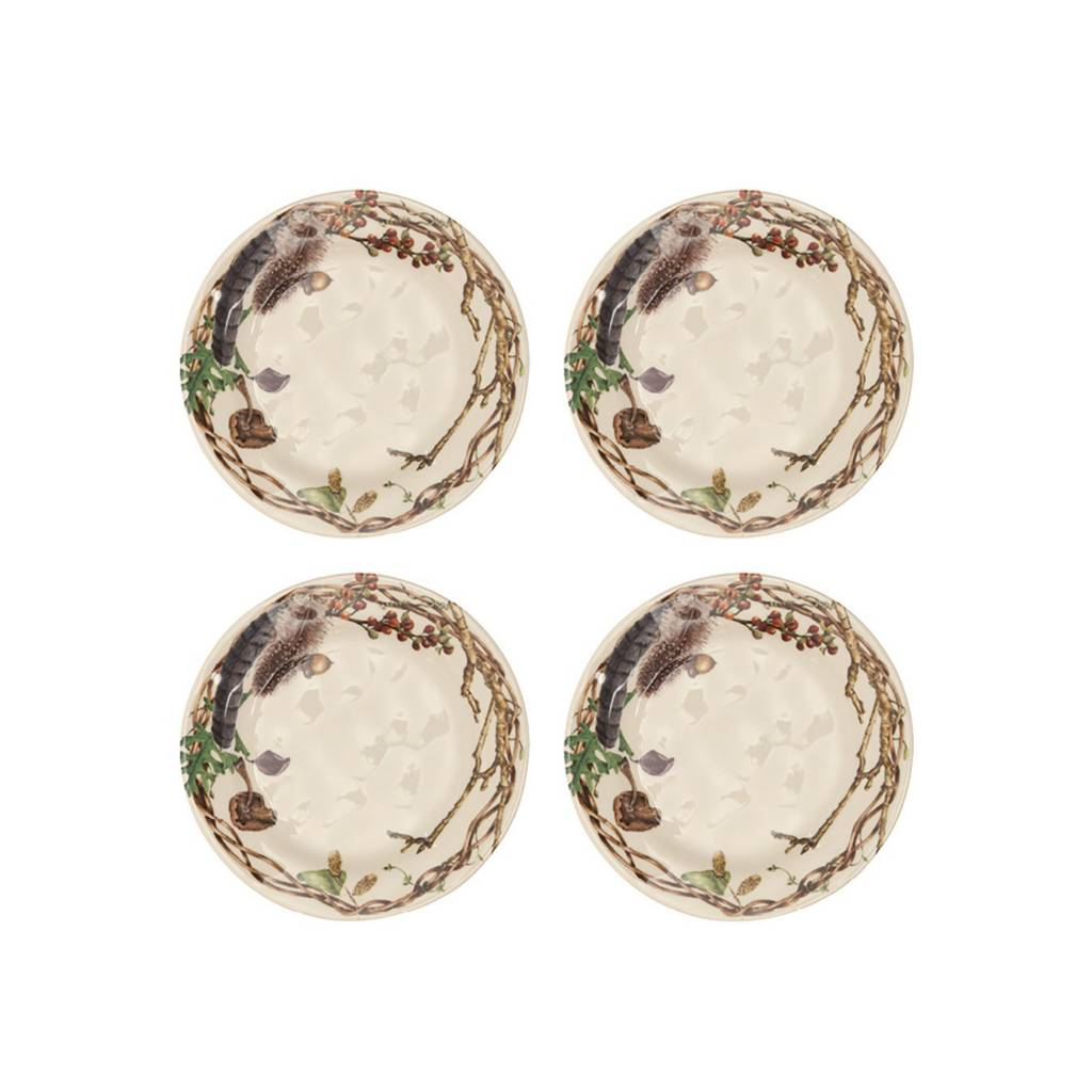Juliska Forest Walk Party Plates Set of 4