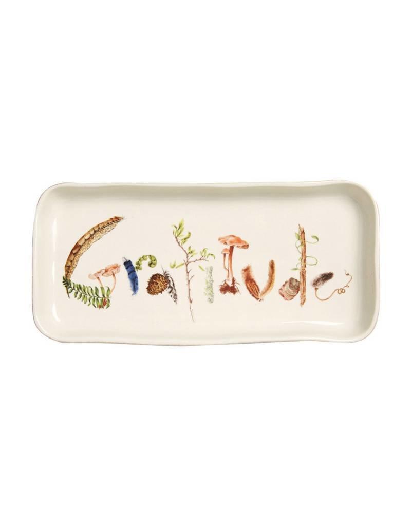 """Juliska Forest Walk Gift Tray """"Gratitude"""""""