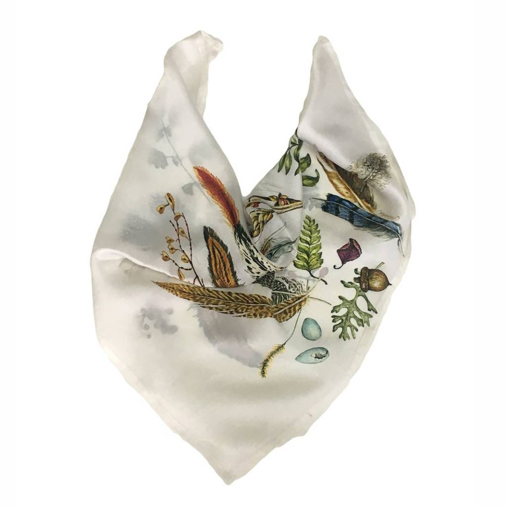 Juliska Forest Walk Printed Silk Scarf
