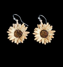 Sunflower Wire Drop Earring