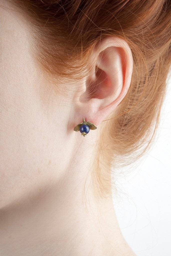Michaud Silver Seasons Blueberry Stud Earring