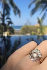 14KT Gold Opal Caribbean Sunrise Ring Size 7