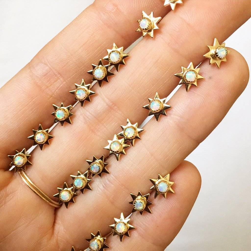 La Kaiser Opal Starburst Studs