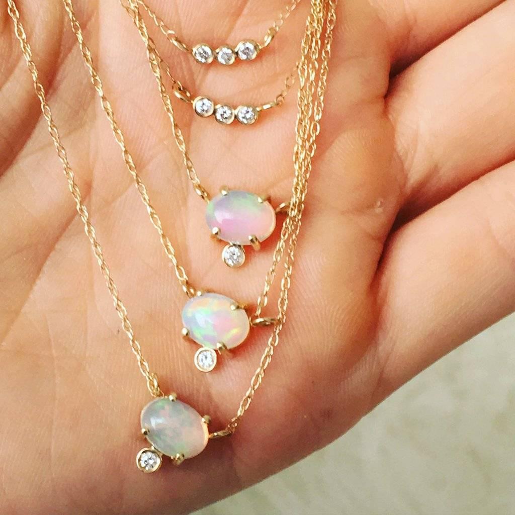 La Kaiser Opal and Diamond Fiore Pendant