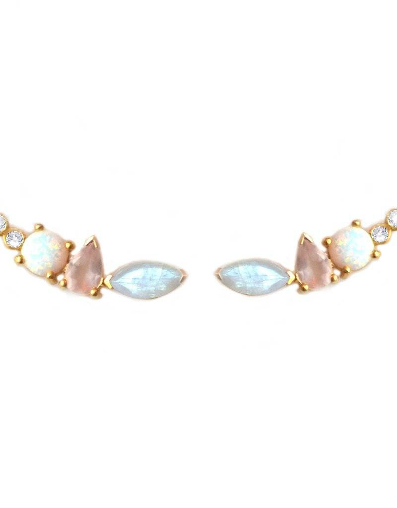 Rainbow Moonstone and Opal Wing Climbers