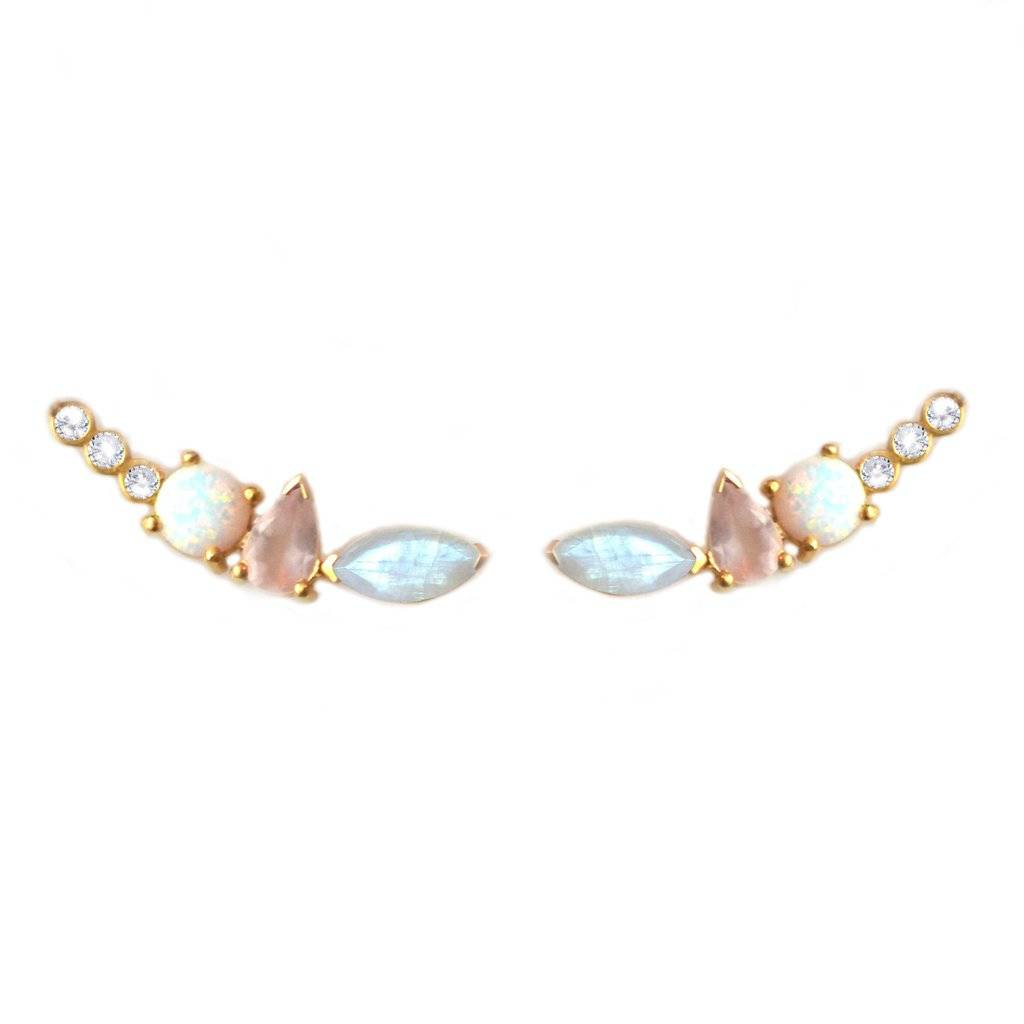 La Kaiser Rainbow Moonstone and Opal Wing Climbers