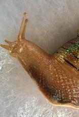 CarefulPeach Green Snail Ornament