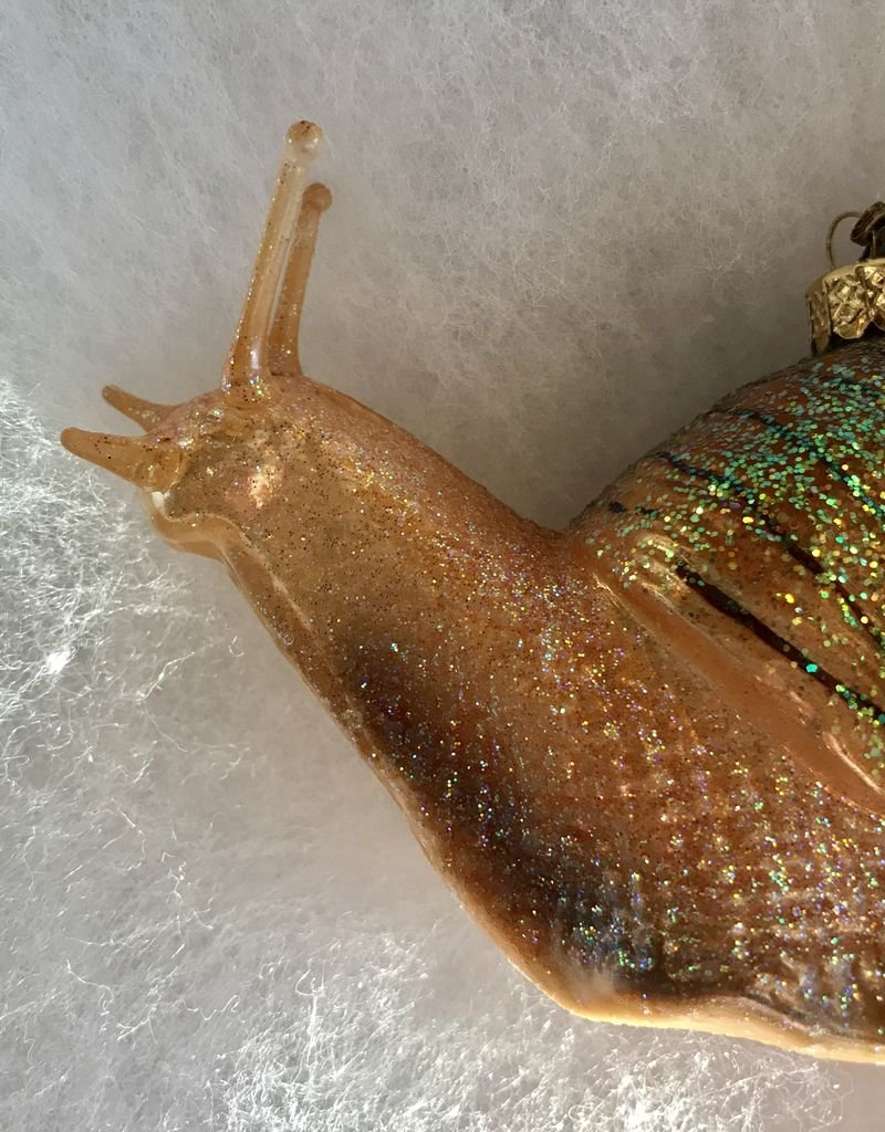 CarefulPeach Boutique Green Snail Ornament