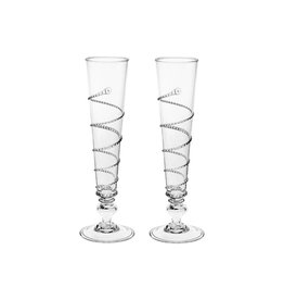 Juliska Pair of Amalia Flutes