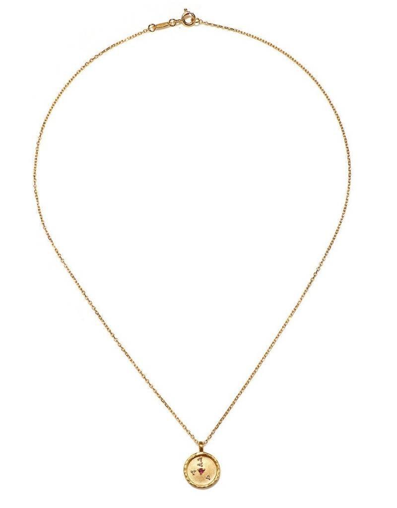 Gold Cancer Zodiac Necklace
