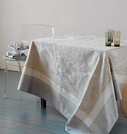 Garnier-Thiebaut, Inc. Isaphire Platine Tablecloth 69 x 120