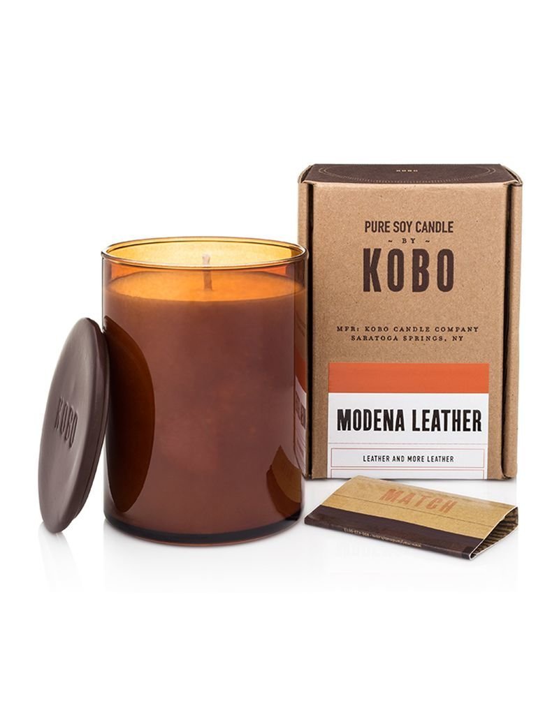 Modena Leather Soy Candle