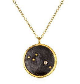 Gold & Rhodium Aries Zodiac Necklace
