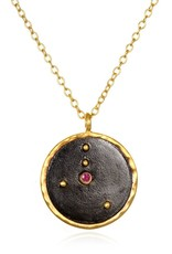 Gold & Rhodium Cancer Zodiac Necklace