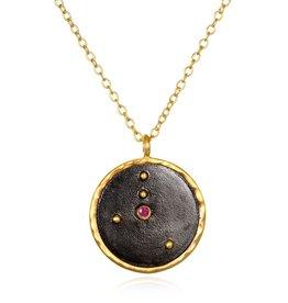 Gold & Rhodium Cancer Zodiac Necklace