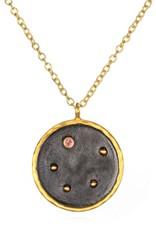 Gold & Rhodium Libra Zodiac Necklace