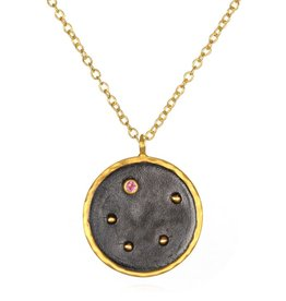 Gold & Rhodium Libra Zodiac Necklace
