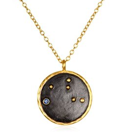 Gold & Rhodium Virgo Zodiac Necklace