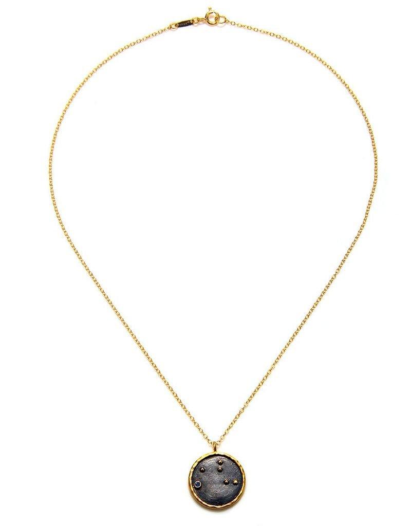 Gold & Rhodium Virgo Zodiac Necklace